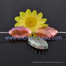 Kristall Glas Perlen Mode Schmuck lila Beschichtung