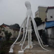 décorations de jardin en plein air metal craft fonte octopus