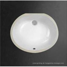 Keramik Sanitär waren High Glossy Platz unter Counter Waschschüssel in weiß