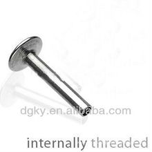 Surgical Steel Threaded Labret Shaft