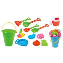 Summer Bucket Play Set 12PCS Juguete de plástico Arena Beach (10214347)