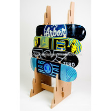 Sport-Zahnrad-Speicher-Anzeige-Befestigungs-kundenspezifische Größen-feste hölzerne 8-Schicht Einzelhandels-Skateboard-Anzeigen-Zahnstange