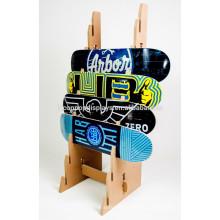 Спортивный Инвентарь Храньте Приспособление Дисплея Пользовательский Размер Твердой Древесины 8-Слойный Скейтборд Розничная Дисплей Стойки