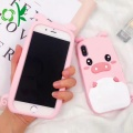 INS Hot Pink Pig Soft Silicone Phone Case