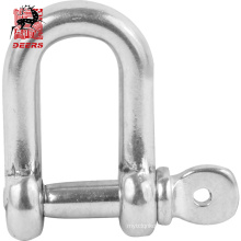 US Type Manufacturer Marine Hardware D shackle Stainless Steel