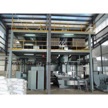 Máquina de fabricação de tecidos não tecidos