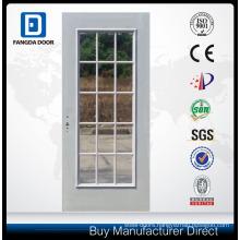 15-Lite Glass Inserts Pvc Grill Steel Glass Balcony Door