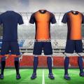 2017 wholeasle precio barato de fábrica de calidad tailandesa jersey de fútbol juvenil jersey de fútbol personalizado uniforme