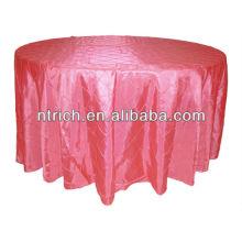 Nappe taffetas pintuck, nappe extérieure, couverture de table Hotel/Banquet