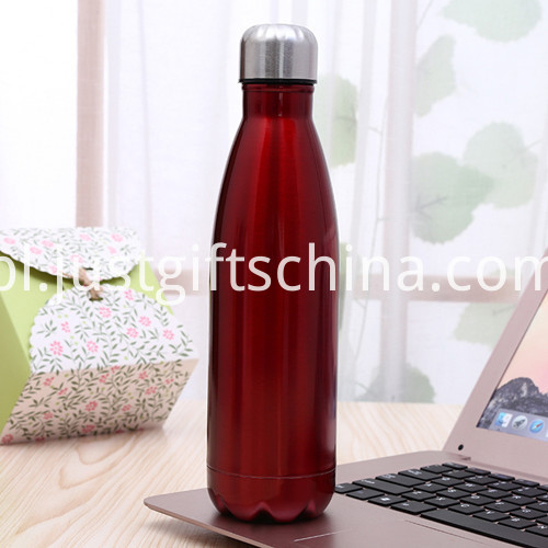 Promotional Portable Stainless Steel Vacuum Bottle-red