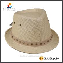 DSC 0009 LINGSHANG nuevo diseño de moda vestido de alta calidad de papel sombrero de paja panamá