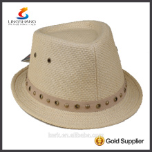 DSC 0009 LINGSHANG New Design Fashion Dress high quality Paper panama straw hat