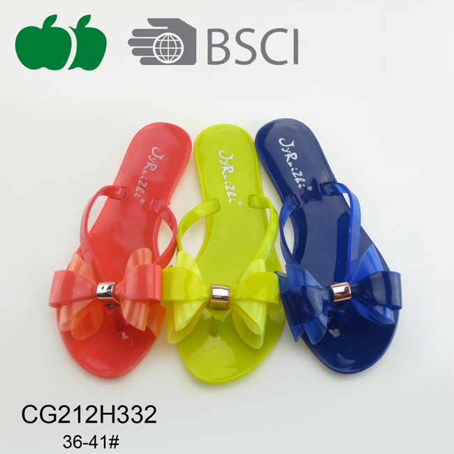 Hot Sale Lady Summer Fashion Pvc Flip Flop