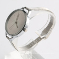 SILVER mesh watch strap women watch big dial