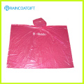 Promotional Pink Disposable PE Rain Poncho Rpe-097