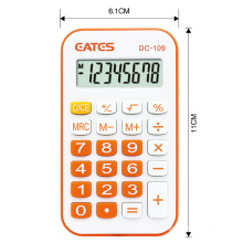 Best Handheld Calculator 8 Digits Button Cell Battery Power Mini Size Rubber Keys Calculator Promotion Gifts