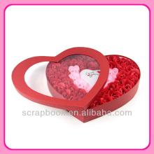 50pcs corações doce sabão rosa flor