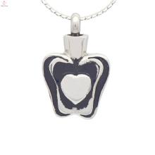 Pingentes de urna de prata especiais para cinzas, lembranças cinzas medalhões jóias