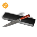 Couteau de cuisine de qualité supérieure en acier Damas de 8 pouces avec lame Tsuchime