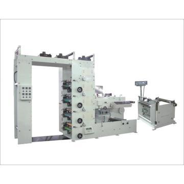 Máquina de impressão e revestimento flexográfica de quatro cores