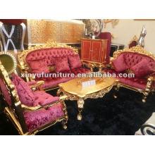 Sofá clásico europeo de oro A10020