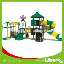 Funny Rubber Mat Flooring Straw House Kids Play Structure with Swing and Outdoor Fitness