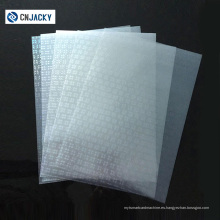 Película de recubrimiento protector PVC con pegamento para tarjetas VIP / película protectora fotográfica