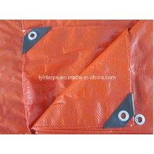 Double Orange Heavy Duty PE Tarp Sheet/Plastic Tarpaulin Sheet