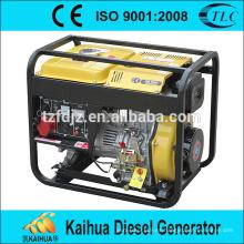 Generador de poder casero del solo cilindro 5kva con precio y buena calidad