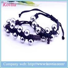316 нержавеющая сталь бисера браслет цепь цепь браслет ювелирные изделия титан сталь браслет мужчины