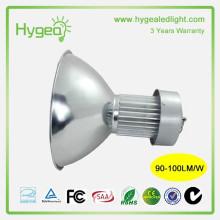 A baía elevada vendida quente conduziu a luz 50W Exposição contador luzes elevadas do louro