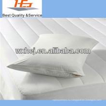 Дешевые белый хлопок отель подушка протектор /pilow чехол