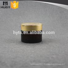Pot de crème en verre vide de Brown 25ml avec le chapeau d'or brillant