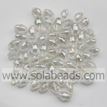 European 4*6.5MM Diamond Bicone Earring Charming Bead