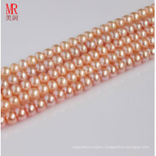 8-9mm Pink Fresh Water Pearl Strand