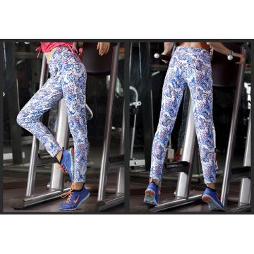 Womens Leggings Fitness Colorful Antibacterial Soft Elastic Waistband Yoga Pants
