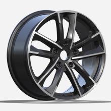 Flat Black Machined Face Audi Replica Wheels