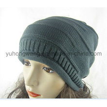 Winter Warm Lady Acrylic Knitted Beanie Skull Hat/Cap