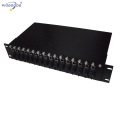 double alimentation 19inch rack monté 16 slots media converter rack