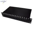 dual power supply 19inch rack mounted 16 slots media converter rack