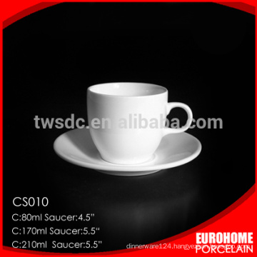 2016 new goods stock china wholesale round design fine bone china cup and saucer