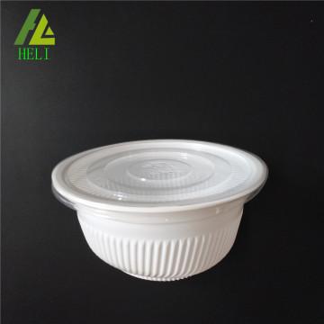 Bol alimentaire en plastique jetable PP avec couvercle
