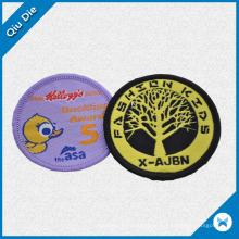 Circular Monder Embroidery Patch para vestuário / roupas têxteis