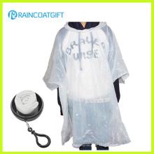 Boule jetable promotionnelle de Poncho de pluie de PE Rpe-091b