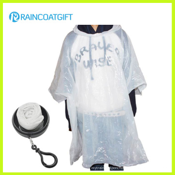Keychain Ball Rain Poncho for Promotion