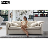 Down goose feather living room fabric sofa