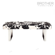 Estilo country confortável pantherine tecido footstool sopro otomano