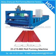 Máquina de la hoja de acero revestida color, máquina que forma del rodillo frío, hojas de techos de acero pre-pintadas rueda máquina anterior