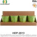 400ml mehrfarbiger biologisch abbaubarer Bambusfaserbecher (HDP-2013)