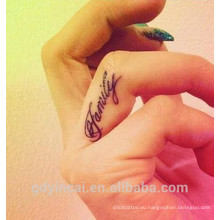 Пользовательские высокое качество один цвет татуировки временные с заводской цене